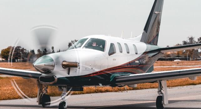 Aéronef qui se prépare à décoller
